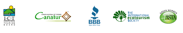 Better Business Bureau, Costa Rican Tourism Board (ICT) and other certification seals