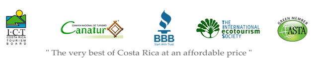 Click for details on Better Business Bureau, Costa Rican Tourism Board (ICT), Cantur and other certifications