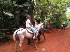 L.K. Horseback riding Costa Rica Vacations Photo
