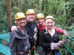 V.R. and Family Canopy Tour Costa Rica Vacations Photo