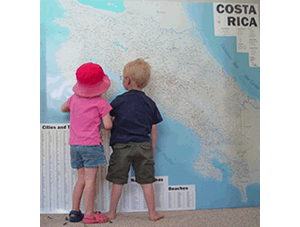 big custom wall map of costa rica